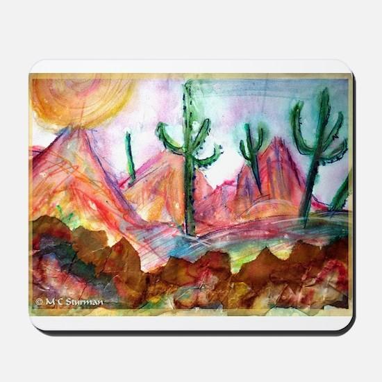Desert, colorful, Mousepad