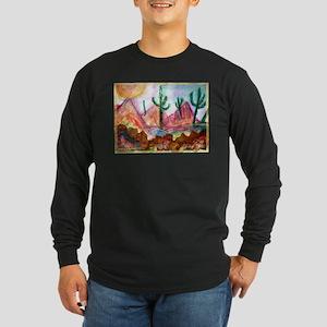 Desert, colorful, Long Sleeve Dark T-Shirt