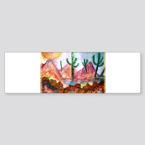 Desert, colorful, Sticker (Bumper)