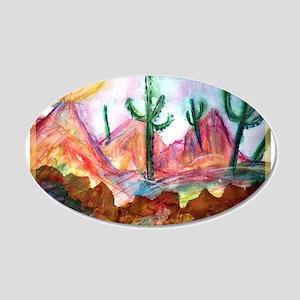 Desert, colorful, 22x14 Oval Wall Peel