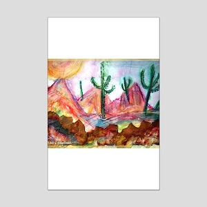 Desert, colorful, Mini Poster Print