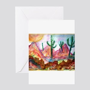 Desert, colorful, Greeting Card