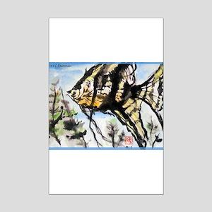 Angel fish, colorful, Mini Poster Print