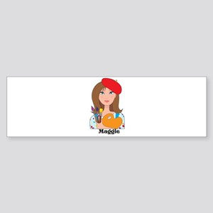 Lady Artist Sticker (Bumper)