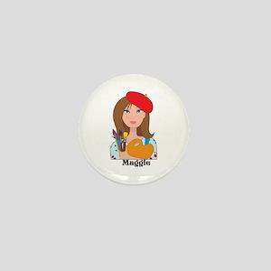 Lady Artist Mini Button