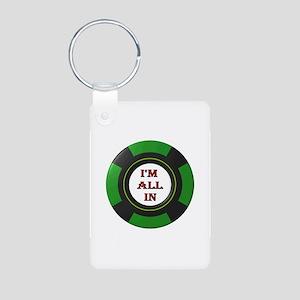 GO ALL IN Aluminum Photo Keychain