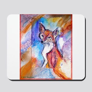 Fox, colorful, Mousepad