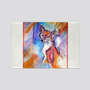 Fox, colorful, Rectangle Magnet