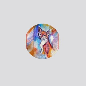 Fox, colorful, Mini Button