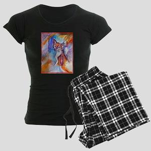 Fox, colorful, Women's Dark Pajamas