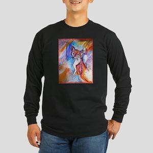Fox, colorful, Long Sleeve Dark T-Shirt
