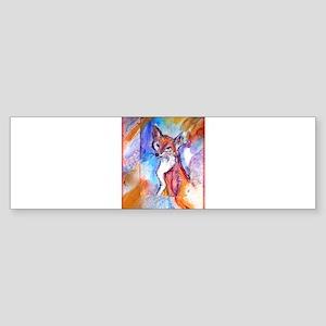 Fox, colorful, Sticker (Bumper)