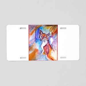 Fox, colorful, Aluminum License Plate