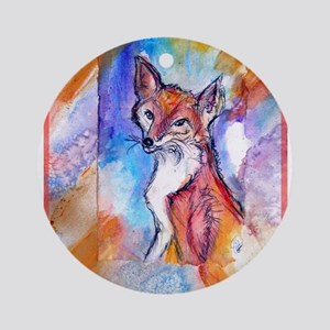 Fox, colorful, Ornament (Round)