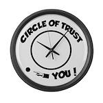 Circle of trust Large Wall Clock