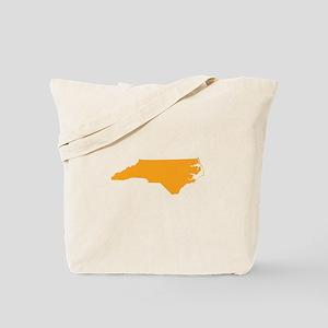 Orange North Carolina Tote Bag