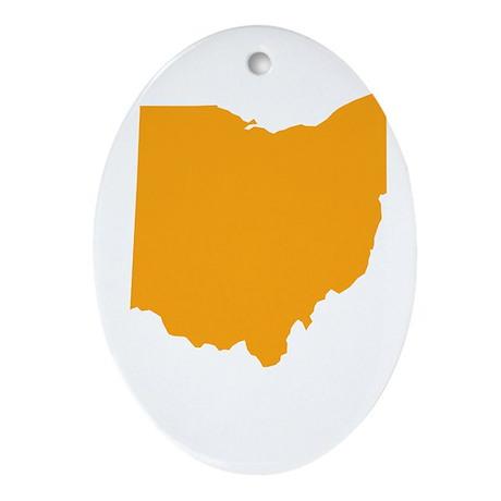 Orange Ohio Ornament (Oval)