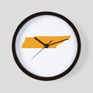 Orange Tennessee Wall Clock
