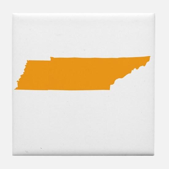 Orange Tennessee Tile Coaster