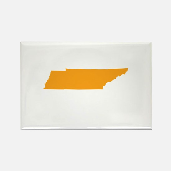Orange Tennessee Rectangle Magnet