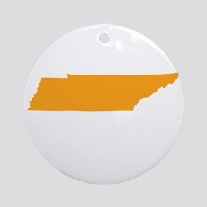 Orange Tennessee Ornament (Round)
