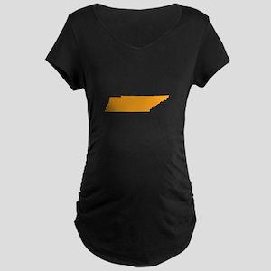 Orange Tennessee Maternity Dark T-Shirt