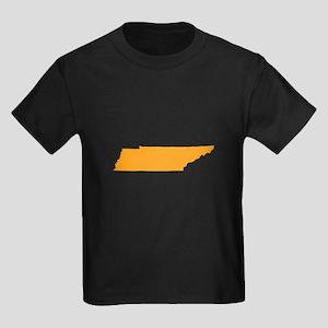 Orange Tennessee Kids Dark T-Shirt