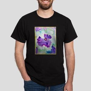 Purple Pansy, colorful, art, Dark T-Shirt