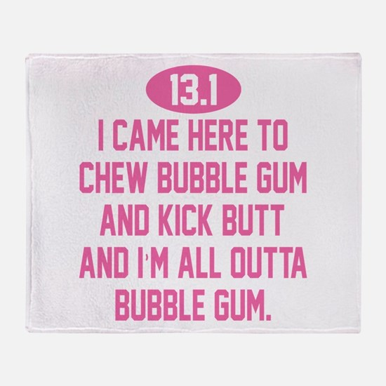 Unique Bubble gum Throw Blanket
