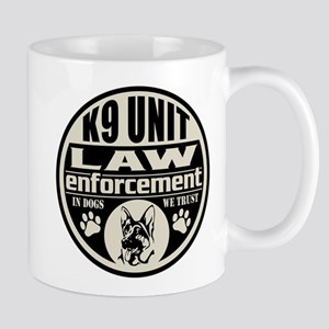 K9 In Dogs We Trust Black Mug
