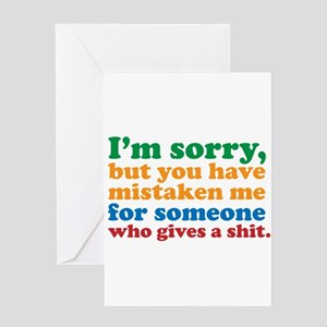 Take this job and shove it greeting cards cafepress i dont care greeting card m4hsunfo