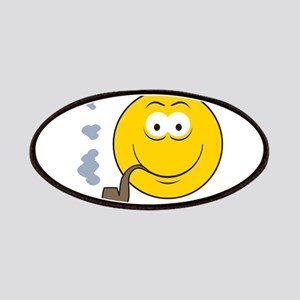 Pipe Smoking Smiley Face Patches