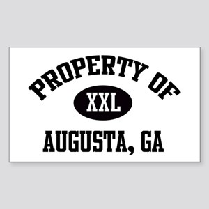 Property of Augusta Rectangle Sticker