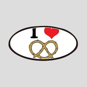 I Heart (Love) Pretzels Patches