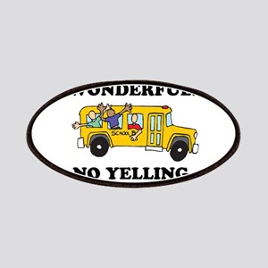 NO YELLING ON THE BUS Patches
