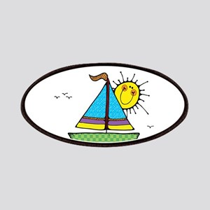 Cute Sail Boat and Sun Patches