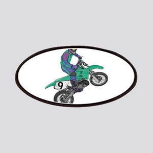 Dirt Bike Popping Wheelie Patches