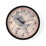 Japanese Hawk Print Wall Clock