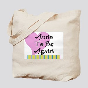 Aunt To Be Again Stripes Tote Bag
