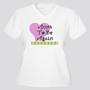 Aunt To Be Again Stripes Women's Plus Size V-Neck