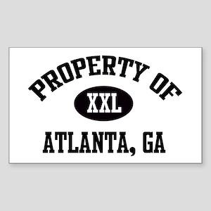 Property of Atlanta Rectangle Sticker