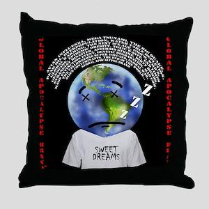 Sweet Dreams Sad Planet Throw Pillow