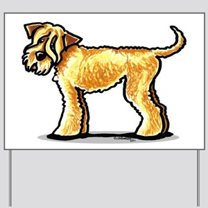 Soft Coated Wheaten Terrier Yard Sign
