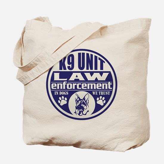 K9 In Dogs We Trust Blue Tote Bag