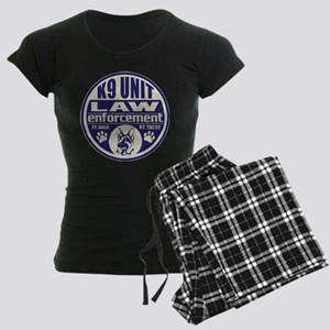 K9 In Dogs We Trust Blue Women's Dark Pajamas