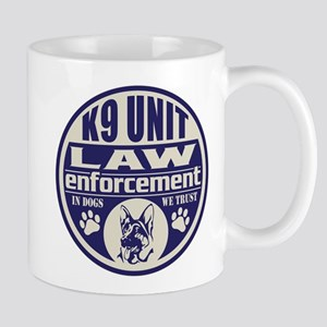 K9 In Dogs We Trust Blue Mug