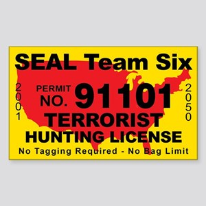 Seal Team Six Terrorist Hunting Sticker