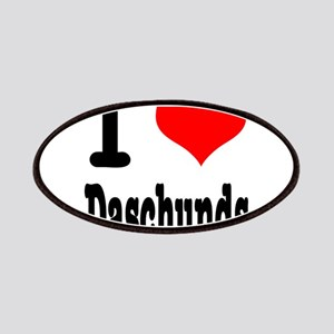 I Heart (Love) Daschunds Patches