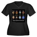 Planets Women's Plus Size V-Neck Dark T-Shirt