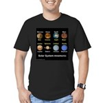Planets Men's Fitted T-Shirt (dark)